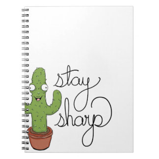 Funny Cactus Stay Sharp Character Notebook