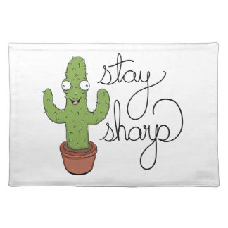 Funny Cactus Stay Sharp Character Placemat