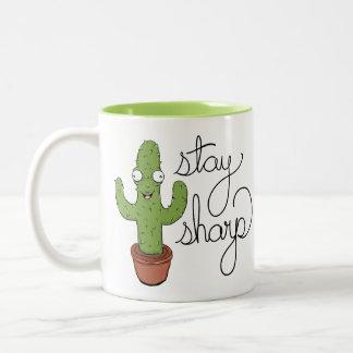 Funny Cactus Stay Sharp Coffee Mug