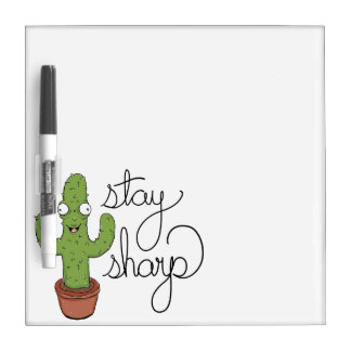 Funny Cactus Stay Sharp Dry Erase Board