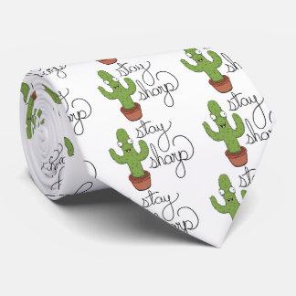 Funny Cactus Stay Sharp Shirt Tie