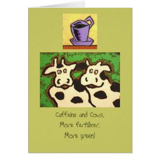 funny caffeinated cows card II
