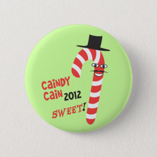 Funny CAINdy CAIN - Herman Cain 2012 for President 2 Inch Round Button