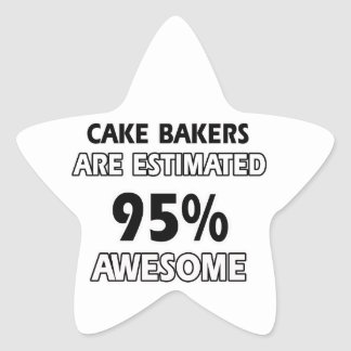 funny cake bakers designs star sticker