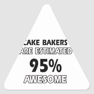 funny cake bakers designs triangle sticker