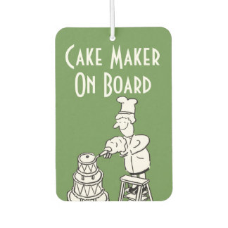 Funny Cake Maker Cartoon Car Air Freshener