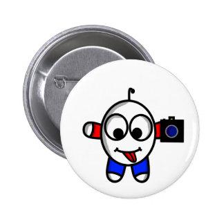 funny camera dude 2 inch round button