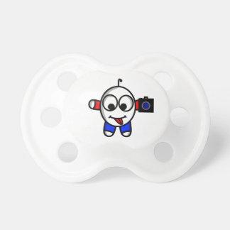 funny camera dude pacifier