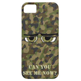 Funny Camouflaged  Eyes, Military, Hunters, Army iPhone 5 Case