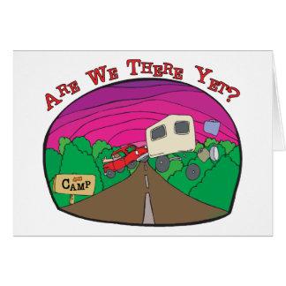 Funny Camping Greeting Card