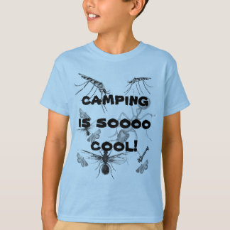 Funny Camping is Cool Bugs Kids T-shirt
