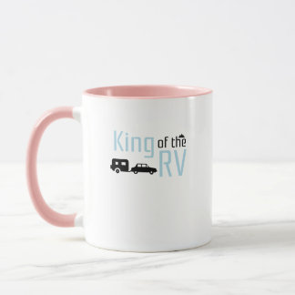 Funny Camping Roadtrips Vacation King of the RV Mug