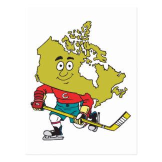 Funny Canadian Hockey Postcard