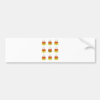 Funny Candy Corn Emoji Bumper Sticker