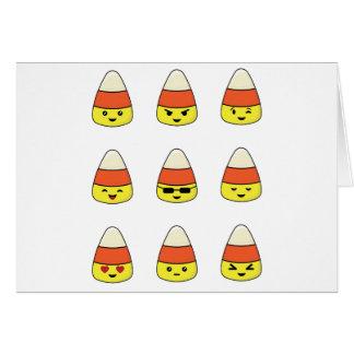 Funny Candy Corn Emoji Card