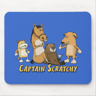 Funny Captain Scratchy Mouse Pad