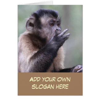Funny Capuchin Monkey to Customize Yourself Card