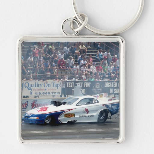 Funny Car Auto Racing Key Chain