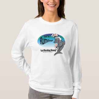 Funny Card Sharking Granny T-Shirt