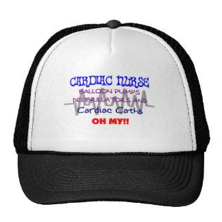 Funny Cardiac Nurse T-Shirts Trucker Hat