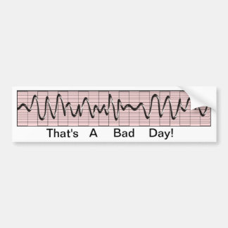 Funny Cardiac Rhythm Strip Bumper Sticker