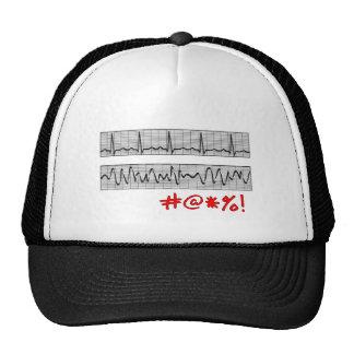 Funny Cardiac Rhythm Strip Gifts Hats