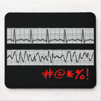 Funny Cardiac Rhythm Strip Gifts Mouse Pad