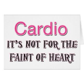 Funny Cardio Saying Card