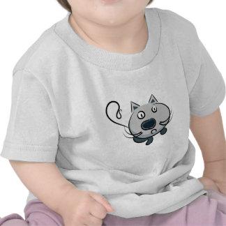 Funny cartoon animation cat illustration t-shirt