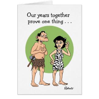 Funny Cartoon Anniversary Card