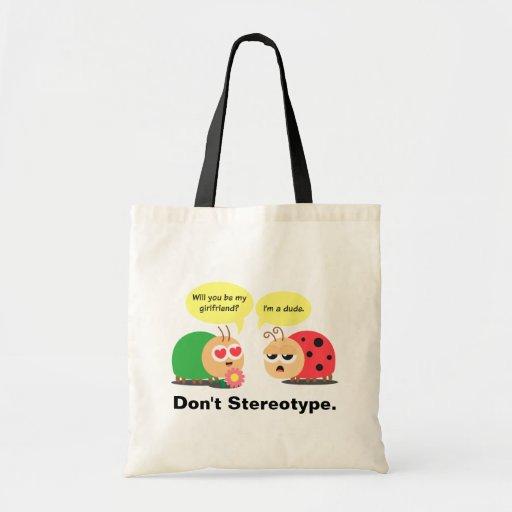 Funny Cartoon - Beetle Mistook Ladybug as a girl Canvas Bags