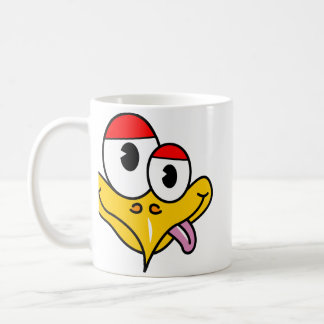 Funny Cartoon Bird Basic White Mug