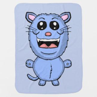 Funny Cartoon Blue Cat blanket