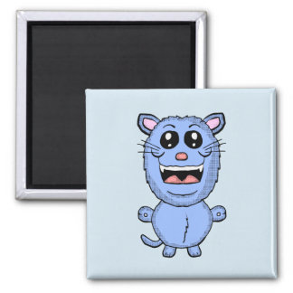 Funny Cartoon Blue Cat magnet