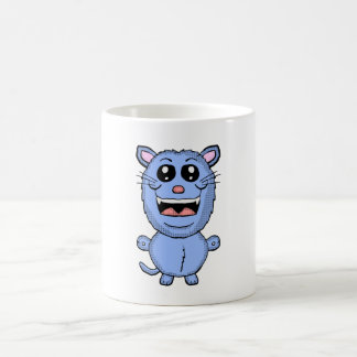 Funny Cartoon Blue Cat mug