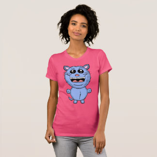 Funny Cartoon Blue Cat Shirt