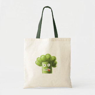 Funny Cartoon Broccoli Canvas Bags