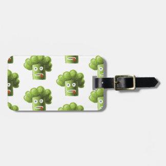 Funny Cartoon Broccoli Pattern Personalized Luggage Tag