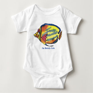 Funny Cartoon Butterfly Fish Cute Infant Baby Bodysuit