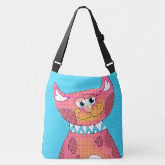 Funny Cartoon Cat Cross Body Bag