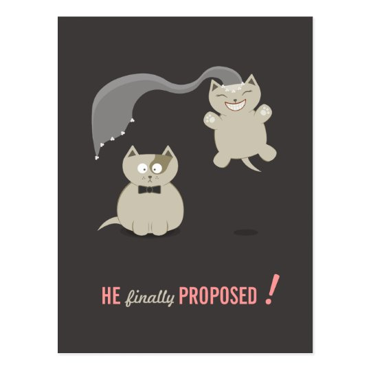 Funny Cartoon Cats Save the Date postcard