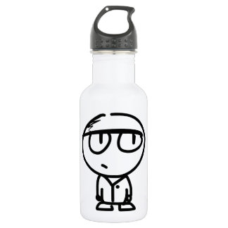 Funny Cartoon Character Water Bottle