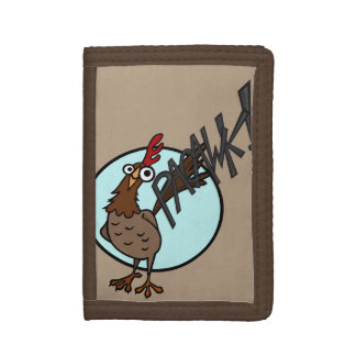 FUNNY CARTOON CHICKEN TRIFOLD WALLET