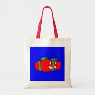 Funny Cartoon Christmas Present Gift Budget Tote Bag