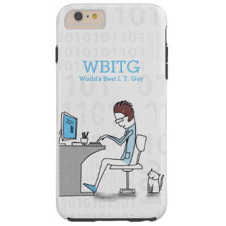 Funny Cartoon Computer Tech or Software Designer Tough iPhone 6 Plus Case