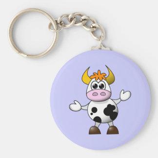 Funny Cartoon Cow Keychain