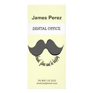 Funny  Cartoon Dentist Mustache Rack Card