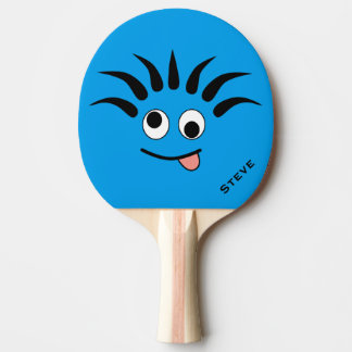 Funny Cartoon Dizzy Face Custom Ping Pong Paddle