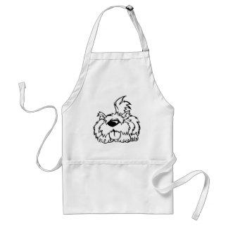 Funny cartoon dog standard apron