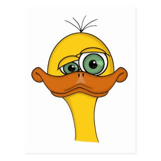 Funny Cartoon Duck Postcard